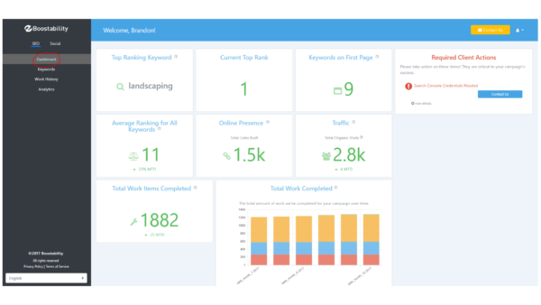 SEO Reporting Dashboard